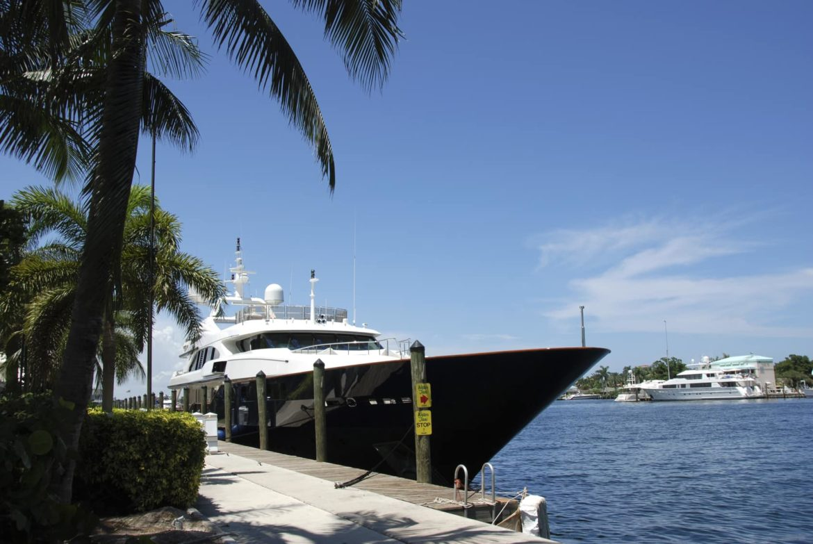 Yacht in port at Ft Lauderdale