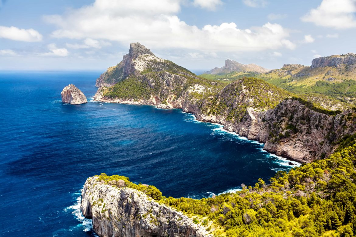 The rocky Spanish coastline and azure waters will be a highlight of your yacht charter