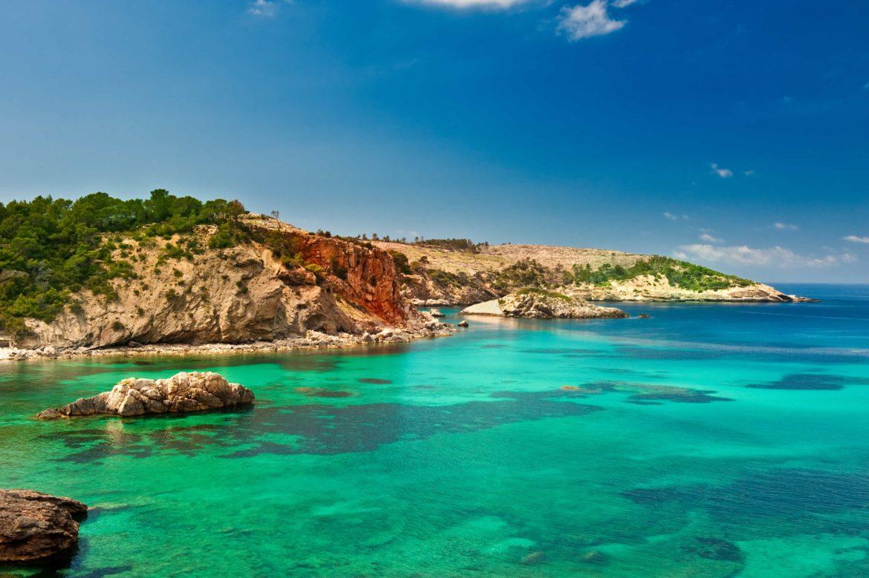 Rocky coastline of Ibiza