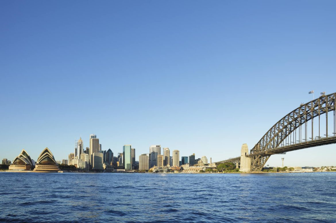 Sydney Opera House as seen from the deck of your Australia yacht charter while cruising Sydney Harbour.