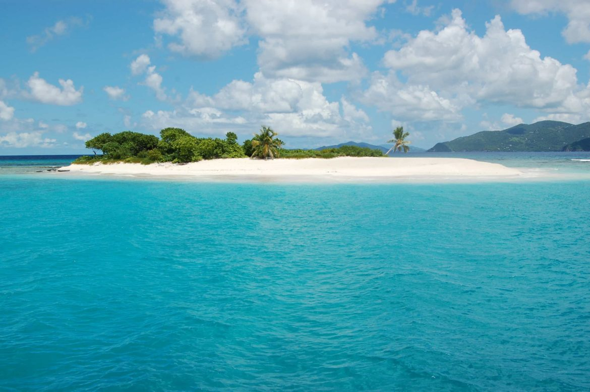 Small deserted islands like this are perfect for spending an afternoon alone on your private yacht charter.