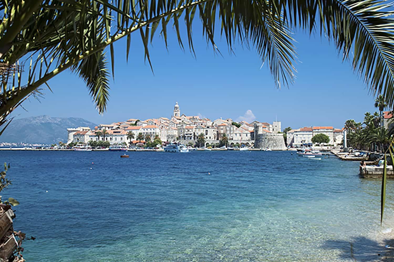 coastal medieval town in Croatia