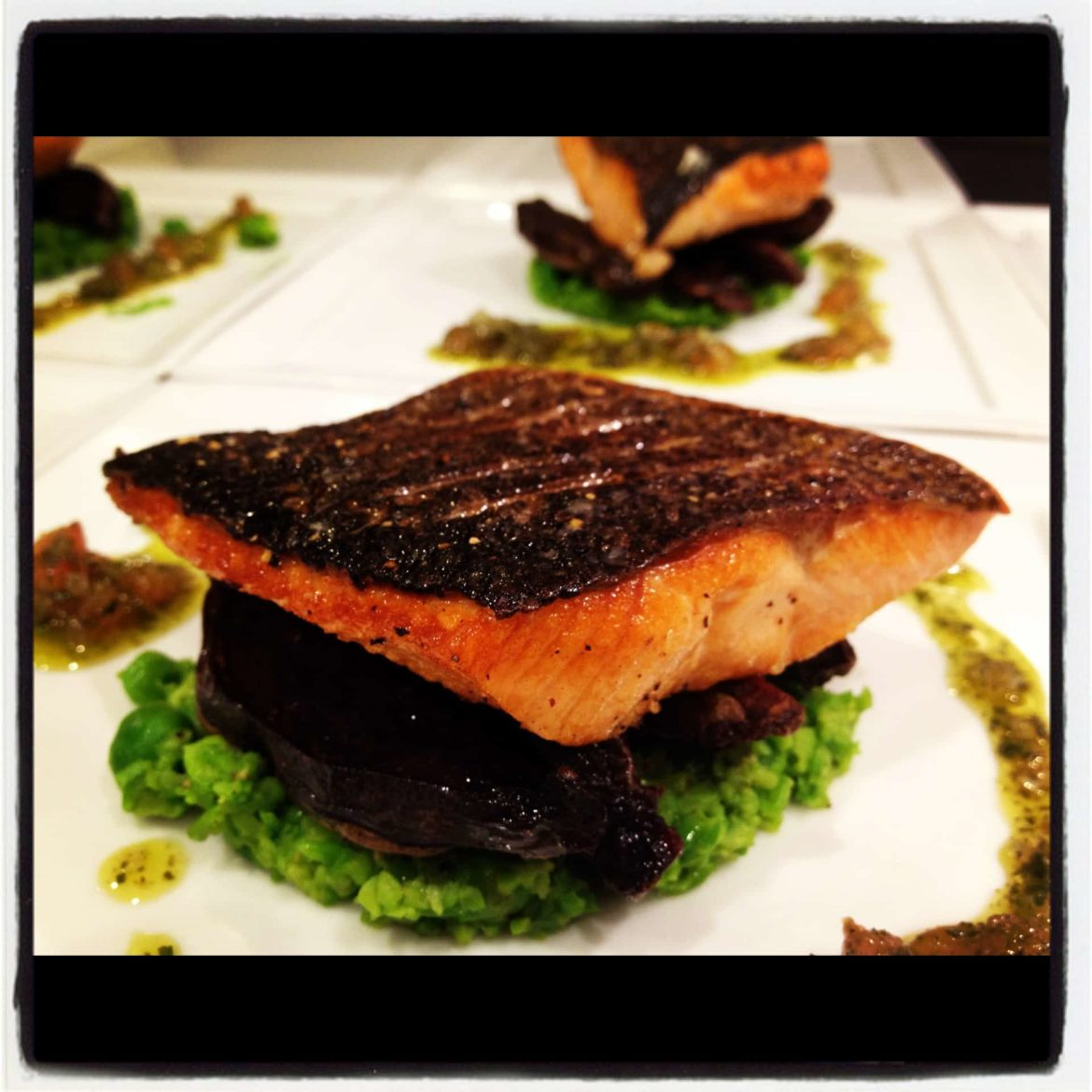 tantalizing wild trout served atop crushed spring peas a recipe straight from the galley of our superyachts
