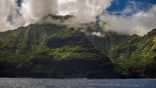 View of Hawaii from sea